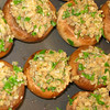 """Stuffed Mushrooms (before the oven)<br /> <br />  <a href=""""http://www.epicurious.com/recipes/food/views/Stuffed-Mushrooms-107963"""">http://www.epicurious.com/recipes/food/views/Stuffed-Mushrooms-107963</a>"""