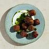 "Lamb Meatballs with Raisin Pesto<br /> <a href=""https://www.bonappetit.com/recipe/spicy-lamb-meatballs-with-raisin-pesto"">https://www.bonappetit.com/recipe/spicy-lamb-meatballs-with-raisin-pesto</a>"