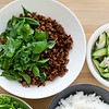 "Crispy Thai Pork with Cucumber Salad<br /> <a href=""https://www.bonappetit.com/recipe/crispy-thai-pork-cucumber-salad"">https://www.bonappetit.com/recipe/crispy-thai-pork-cucumber-salad</a>"