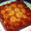 """Banana Upside-Down Cake (use less sugar in the batter)<br /> <br /> <a href=""""http://www.epicurious.com/recipes/food/views/Banana-Upside-Down-Cake-2516"""">http://www.epicurious.com/recipes/food/views/Banana-Upside-Down-Cake-2516</a>"""