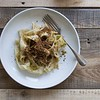 """Pappardelle with stewed leeks and crispy porcini breadcrumbs<br /> <a href=""""http://www.ladanigourmet.com/en/pappardelle-with-stewed-leeks-and-crispy-porcini-breadcrumbs/"""">http://www.ladanigourmet.com/en/pappardelle-with-stewed-leeks-and-crispy-porcini-breadcrumbs/</a><br /> <br /> Made it without the porcini and it was delicious"""