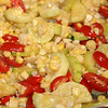 Best summer side dish - Squash, fresh corn and cherry/grape tomatoes<br /> Delicious with baked fish
