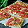 """Tomato Basil Tart<br /> <a href=""""https://www.homecookingadventure.com/recipes/tomato-basil-tart"""">https://www.homecookingadventure.com/recipes/tomato-basil-tart</a>"""