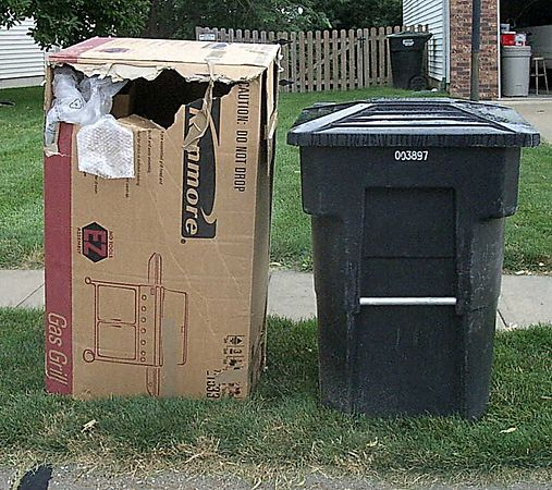 """<br><br><font size=""""3"""">Just for scale.  The box wouldn't fit in the trash can.</font>"""