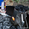 Sometimes it's hard to get the coals to light properly. For those times, there's blowtorches.