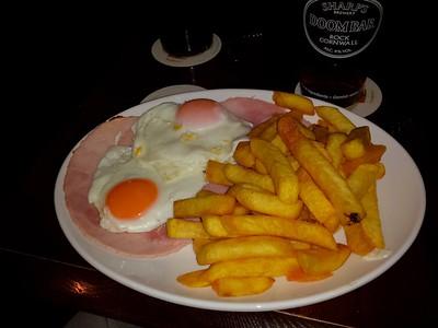 "Ham, Egg & Chips. Served in ""Marine Tavern"" in Dawlish  19/12/14"