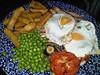 """Ham, Egg & Chips. Served in """"Wetherspoons""""<br /> <br /> 22/06/14"""