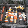 """Veggie Grilled Shish Kabobs at my housemates """"End of the Year"""" Grill Cook-Out at our homemade bbq grill (May 2013)<br /> <br /> more..<br /> <a href=""""http://www.food.com/recipe/grilled-veggie-shish-kabobs-93267"""">http://www.food.com/recipe/grilled-veggie-shish-kabobs-93267</a>"""