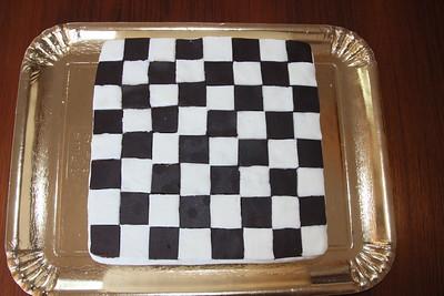 Yoav's 60th chessboard cake
