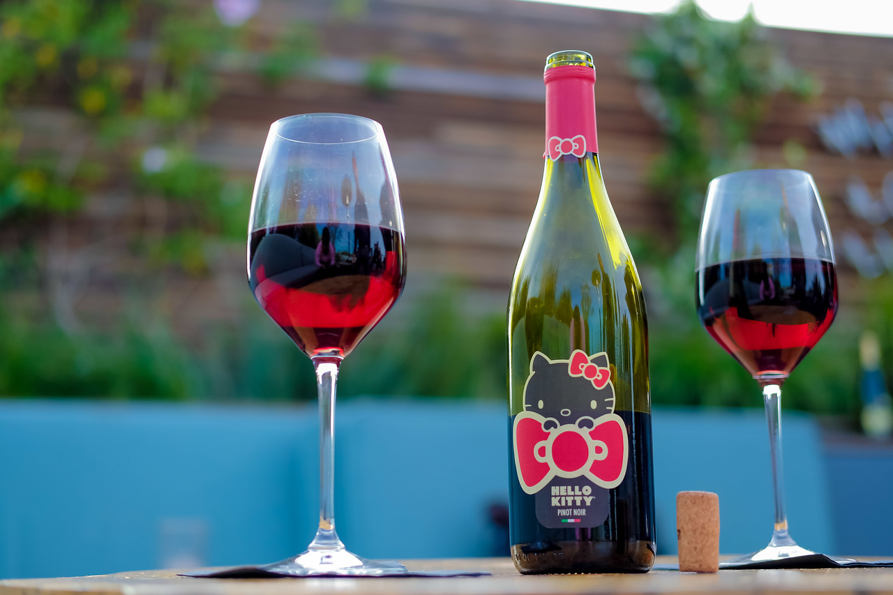 Helllo Kitty Wine Party