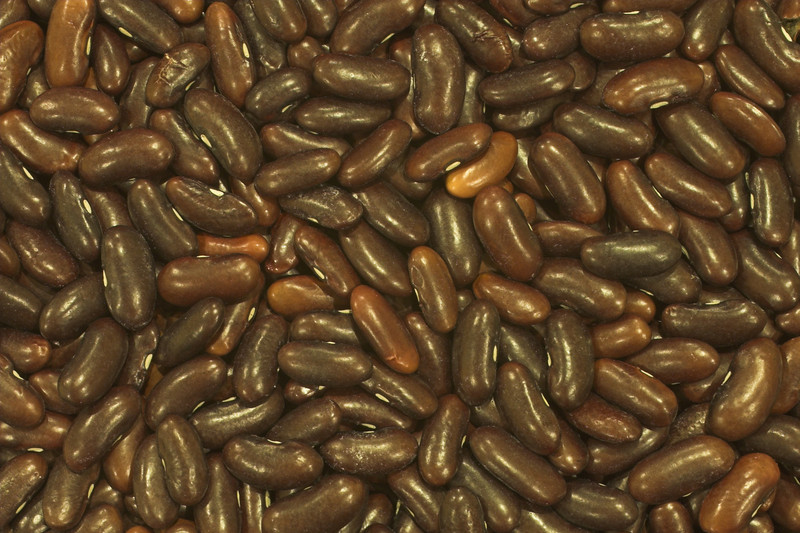 Dark brown beans in still life macro protograph made with 50mm f/2.8 1:1 lens. This photo can be purchased for decoration or monitor.