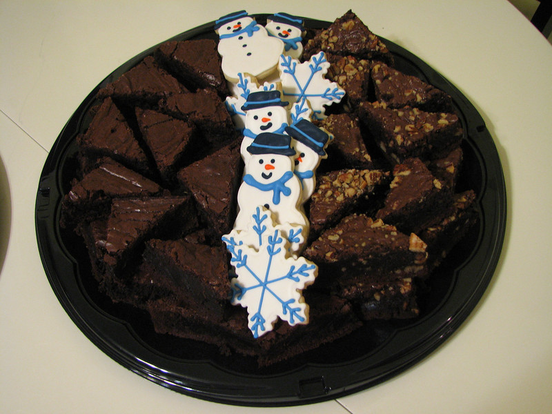 Winter Brownie Tray