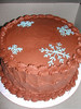 Christmas/Winter-Chocolate Snowflake Cake