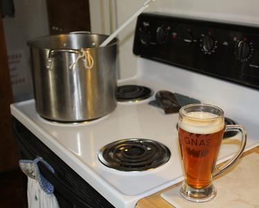 Gotta drink beer when you make beer.  #1 brew rule!