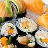 Nigiri, maki og sashimi...nam, nam....