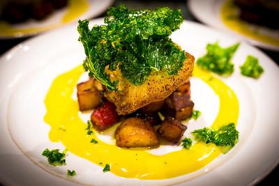 Chilean Sea Bass, Heirloom Carrot, Yukon Gold Potato, Citrus Saffron Burre Blanc, Kale