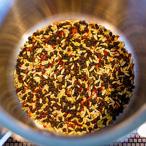 Toasting spices for a brine