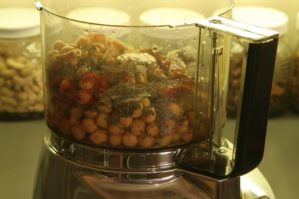 Add all the ingredients to the food processor bowl, cover, and puree. . .