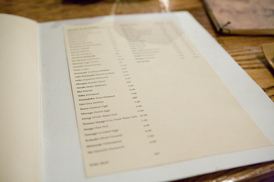 the last page of the menu consists of sushi and rolls.