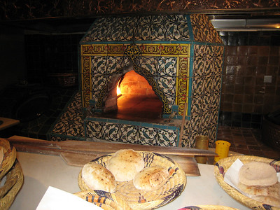 The bread oven at Khan Murjan.  The bread was so light and fluffy that the waiters didn't have to serve it, the bread just floated out to the tables.