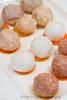 Assortment of meat balls