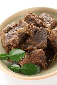 rendang beef, indonesian cuisine