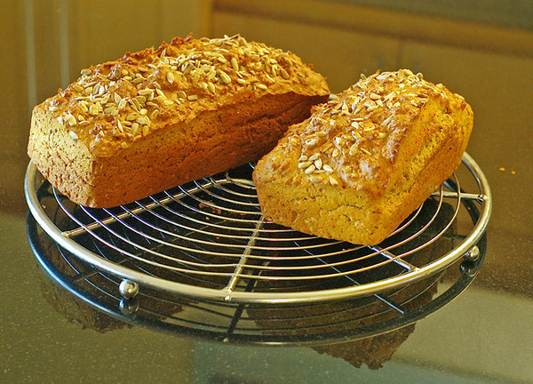 For all you baking fans out there - Carmel's soda bread just out of the oven. Recipe available on request.