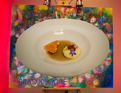 Langoustine Royale Verjus, Herb Blossoms, d'Espelette Glass, Cherry Blossom Consommé