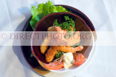 Stock Photo of Japanese Food, Grilled Shrimp Salad