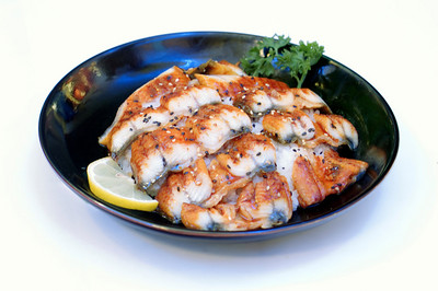 Japanese Food, Plate of Cooked Fish on Rice,