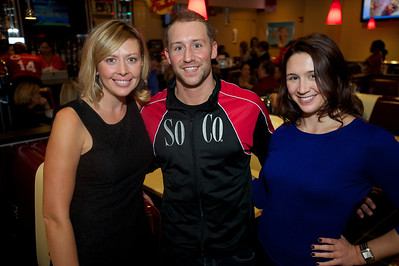 Hannah Eaton of Cincinnati, Aaron Johnson from Columbus and Trisa Wilkens of Cincinnati at the new Johnny Rockets