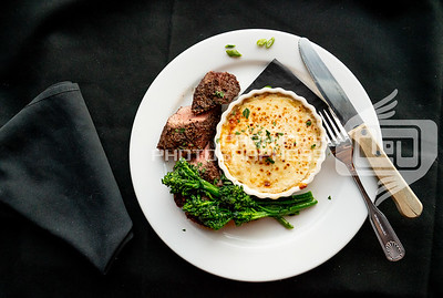 Steak, broccolini, and cheese