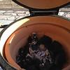 Initial burn in-- 350 degrees