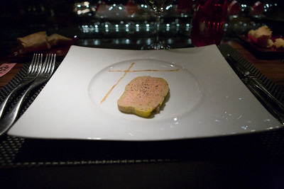 Foie gras terrine.  It was very good (as it is in most French restaurants) but did not blow me away.