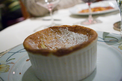 Souffle.  The souffle was all messed up...there was no puff and it was concave.  They actually comped us for this as they realized how screwed up it was.