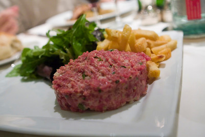 Steak tartare.  It was rather average.  They certainly gave you a lot of it.