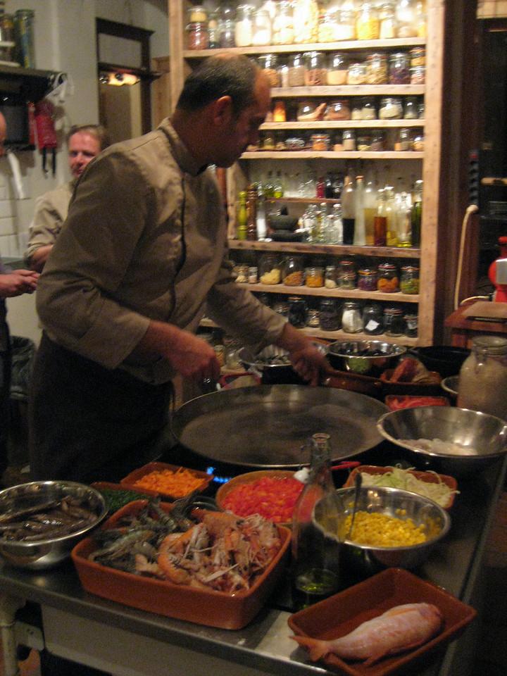 Making the Paella