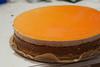 Ensimmäinen juustokakkukokeilu, kun alkoi tehdä mieli appelsiinejä, niin päätin käyttää niitä kakkuun.