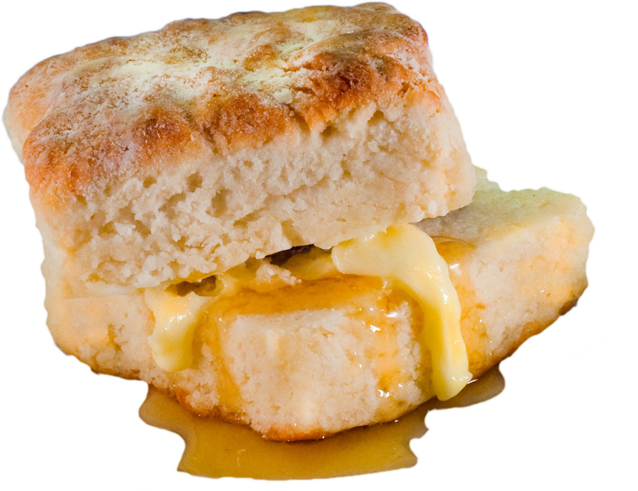 biscuit (plain) with butter and honey