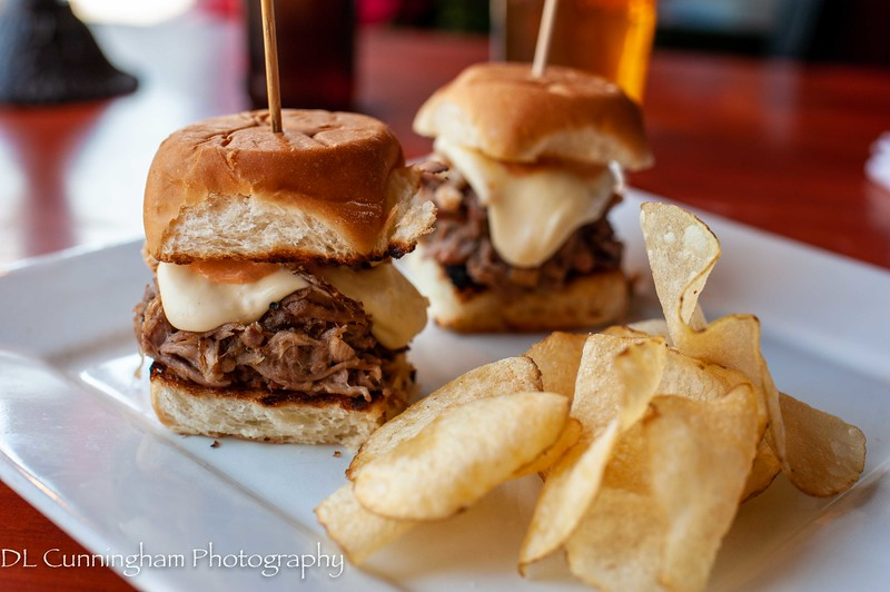 Carnitas sliders with Chef Jane's amazing sauces!!!