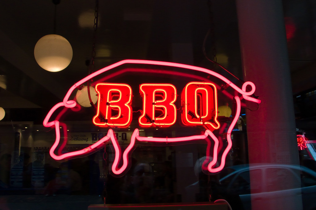Bodeans, a BBQ place in Soho owned by an American. I recommend the pulled pork sandwiches.
