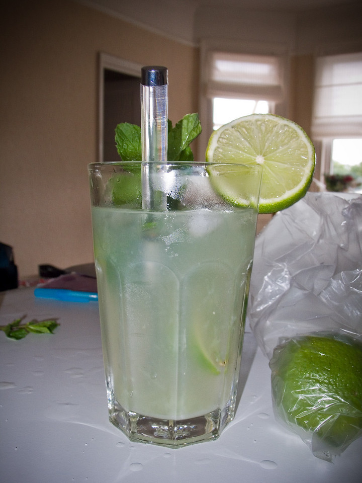 My first mojito, made with Havana Club Cuban rum.