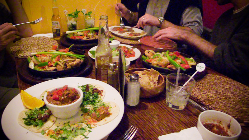 Dinner at Pacifico, a Mexican restaurant in Covent Garden