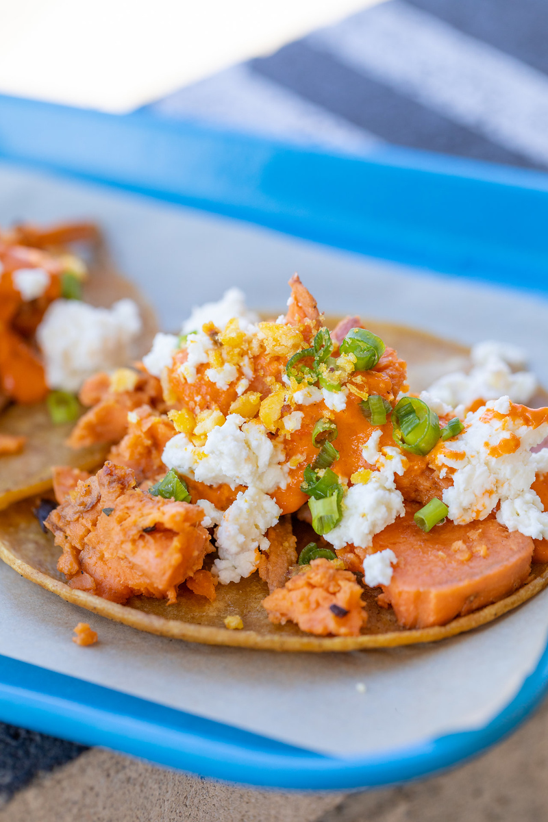 Guerilla Tacos has some of the best tacos in LA, this sweet potato taco is on dineL.A.'s Taco Trek.