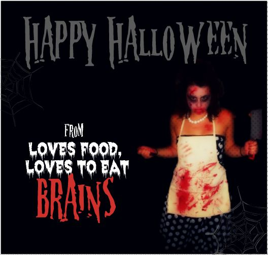 Happy Halloween from Loves Food, Loves to Eat (brains)