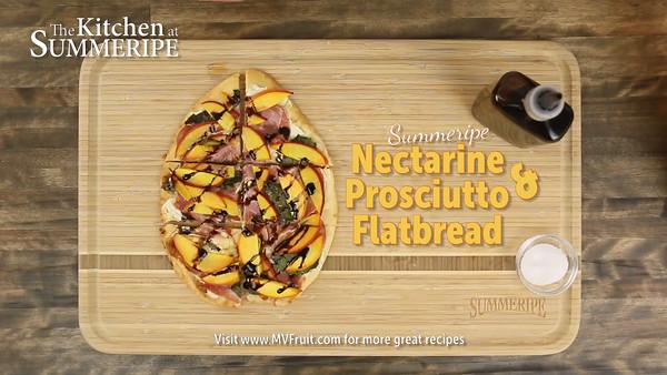 Summeripe Nectarine and Prosciutto Flatbread