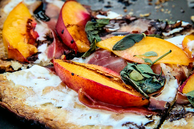 Summeripe Nectarine and Prosciutto Flatbread The Kitchen at Summeripe