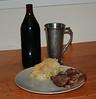 Scott's Silverbeet Spanikopita.  With lamb and Bonnington Ale.