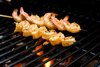 Shrimps on the barbie!