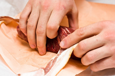 Bacon wrapped filet mignon.